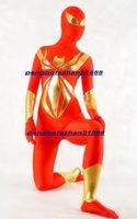 ingrosso catsuit uomo di ragno-Unisex Cosplay Spider Man Vestito Outfit New Red / Gold Lycra Spandex Spider-Man Suit Catsuit Costumi Fantasy Super Hero Spiderman Costumi P271