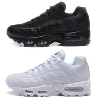 Wholesale gs sizes - With Box Classic 95 OG Tripel White Black Mens Women Running Shoes 95 Cushion M95 GS Authentic Sports 95s Boots Sneakers Size 36-46