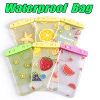 Wholesale fruit dryer - Waterproof Dry Bag Fruit Series for Swimming Diving Phone Bag Cute Cartoon Mobile Phone Bag for iPhone X 8 Plus Samsung