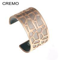 brazalete de amor al por mayor-Cremo Animal Jewelry Bracelet Wide Cuff Bangle Rose Gold Bracelet Rvs Brazalete Sevgiliye Hediye Love Bracelets Femme Pulseira