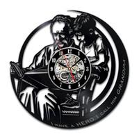 personalizar reloj al por mayor-Regalos diy para abuelo Vinilo Reloj de pared Ornamento Regalos para abuelo Arte y decoración Historias de nieto Ideas de regalos Amor Cumpleaños personalizado