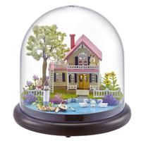 el yapımı bebek çocuklar toptan satış-Sevimli Odası DIY Bebek Evi Mobilya Minyatür 3D Ahşap Evi El Yapımı Oyuncaklar Hediyeler Çocuklar Için Bahar Çiçekleri B021 # E