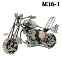 motocicleta artesanato venda por atacado-Novo Metal artesanato artes enfeites para casa decorações de ferro forjado motocicleta modelos Criativo Presentes Para Decoração de Casa