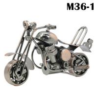 motosiklet el işleri toptan satış-Yeni Metal el sanatları sanat süsler ev dekorasyonu ferforje motosiklet modelleri Ev Dekorasyon Için Yaratıcı Hediyeler