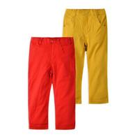 filles coréennes pour vêtements pour enfants achat en gros de-Enfants Bébés / Garçons Jeans / Pantalons coréens Enfants Pantalons Pantalons Rouge Jaune Mi-droite Casual Unisexe Solide Babi Filles 0-4 ans