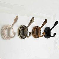 ganchos de toalha antigos venda por atacado-Clássico europeu gancho de parede esculpida antique bronze guarda-roupa titular organizador do chapéu chapéu toalha cabide cabide decoração da sua casa