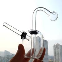 el cam yağı kabarcığı toptan satış-Kahverengi Mini Villain Bardak Bongs Su Boruları 10