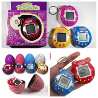 Wholesale color box game - Retro Game Egg shells color box Toys Pets In One Funny Toy pet Vintage Virtual Pets Cyber Toy Tamagotchi Digital Pet Child Game Kids