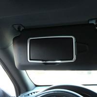 Wholesale car chrome decoration trims - 2pcs Chrome Make Up Mirror Decoration Trim For Mercedes Benz A C GLK GLE ML GLA CLA Car Accessory