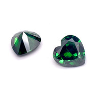 49178424b57 Wholesale 200pcs Heart Shape mm AAA Quality Emerald Green Cubic Zirconia  Machine Cut Synthetic Loose Stones