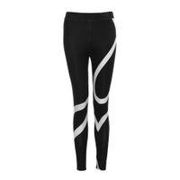 Wholesale hot yoga pants workout resale online - Hot Sale Yoga Pants Women Polyester Elastic Waist Ankle Length Pants Splice Yoga Skinny Workout Gym Leggings Fitness