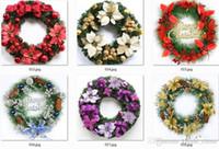 Wholesale plastic decorative pieces resale online - 55cm diameter for hotel use decorative christmas wreath christmas decoration for three piece CG01