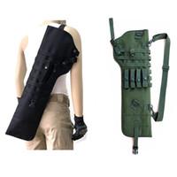 kılıf bıçakları toptan satış-Açık Taktik AK Tüfek Kın Molle Omuz Çantası Omuz Sling Taşınabilir Yastıklı Shotgun Kılıf Bıçak Sırt Çantası