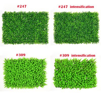 césped artificial al aire libre al por mayor-Pared de césped artificial Milan Eucalyptus prueba de plástico Fake Grass Lawn 60 * 40 cm Valla de hiedra exterior Bush planta de pared Jardín Decoraciones