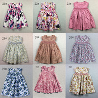 Wholesale Girls Clothing Leopard Print Dress - Baby Dresses With Pink Floral Girls Beach Dress The Little Baby Girls Cute Dress Girls England Style Skirt Outside Clothes 2016 New Summer