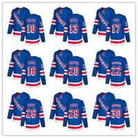 Wholesale nhl hockey rangers - Free Shipping 2018 NHL New York Rangers Hockey jerseys HOT on sale men's t-shirt hockey jersey size M L XL XXL customized item