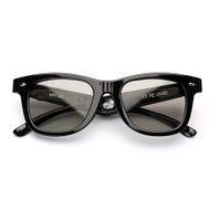 Wholesale electronic sunglasses resale online - Electronic Diming Sunglasses LCD Original Design Liquid Crystal Polarized Lenses Vintage Frame Shine Black Eyewear glasses