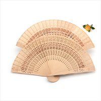 Wholesale free hand held fans resale online - New Chinese Aromatic Wood Pocket Folding Hand Held Fans Elegent Home Decor Party Favors lin2237