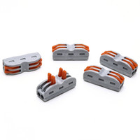 Wholesale Push Wire Terminal - 100PCS SPL-2 PCT-212 222-412 Push Wire Connector 4 Pin Universal Compact Connector Terminals Block gray
