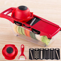 Wholesale potato peeler blades - Mandoline Slicer Vegetable Cutter with Stainless Steel Blade Manual Potato Peeler Carrot Cheese Grater Dicer Kitchen Tool OOA4723