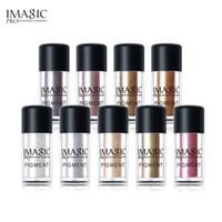 Wholesale loose makeup eye glitter - IMAGIC New Eyeshadow Loose Pigment Shadows Eyes Metallic Glitte Powder Metallic Loose Eye Shadow Color Makeup