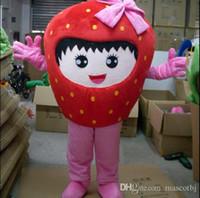 traje de morango venda por atacado-Beijo de morango Frutas Abacaxi Mascot Costume fruit Costume Mascot Personagem de Banda Desenhada Traje frete grátis