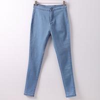 pantalon jeans großhandel-Röhrenjeans Damen Pantalon Damen Denimhosen Stretch Damen farbige Röhrenjeans mit hoher Taille Jeggings Jean Damen
