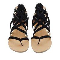 34 taille chaussure romaine achat en gros de-Mode Plus Taille 34-43 Appartements Été Sandales Femmes 2017 Nouvelle Mode Chaussures Décontractées pour Femme Européenne Rome Style Sandalias