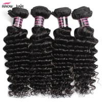 Wholesale shipping hair virgin for sale - Group buy Good Quality A Brazilian Deep Wave Virgin Hair Peruvian Hair Bundles Curly Virgin Hair Wholesalve Price