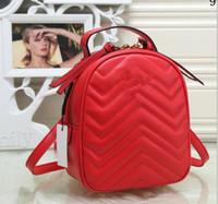 sac à dos à carreaux blanc noir achat en gros de-Nouvelle chaîne de femmes de mode casual sac à dos style sac dame double épaule sac à main noir / rouge couleur / blanc 9998