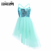 iiniim Children Kids Dancing Sequins Ballet Dress Girl Tulle Tutu Ballet Dancewear Dress Leotard Ballerina Fairy Party Costumes