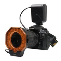 pentax lensler toptan satış-Led Makro Halka Flaş Işık Canon MarkIII Nikon Olympus Pentax SLR Kameralar lens çapı 52/55/58/62/72 / 77mm
