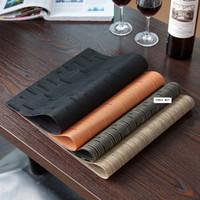 disque de tapis de pvc achat en gros de-Tapis de table isolé du PVC de tasse de plat de bol de disque de vaisselle de plateaux d'isolation thermique de napperons antidérapants 4 couleurs AAA51