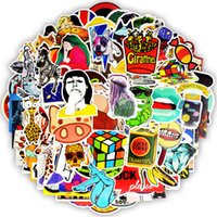 Wholesale cartoon sexy case - 100PCS Sexy Stickers Anime Doodles Child Teen DIY Notebook Animals PVC Stickers Travel Case Motorcycle Helmet Car Guitar Applique Stickers