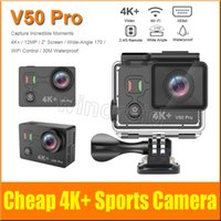 Wholesale professional camera cheap for sale - Cheap Original EKEN V50 Pro K K Ultra HD inch screen Action Sports Camera WIFI HDMI Wide HDMI MP remote control waterproof DV