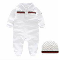 neues babykleid großhandel-neue baby pelzkragen mode kinder siamesische langärmelige kleidungsstück kapuze kinder anzüge ha kleidung klettern kleidung 3-12mcm