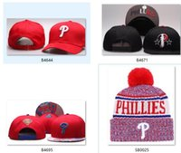 Wholesale women discount caps for sale - Discount Phillies Beanie Snabapck Phillies cap strapback Sideline Cold Weather Sport Knit Hat winter Knitted Wool Skull Cap