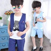 Wholesale longest beard - Baby Clothing Boys Beard Pattern Clothes Clothing Top+Pants 2 Pcs Set Handsome Boy Clothing 6 S L
