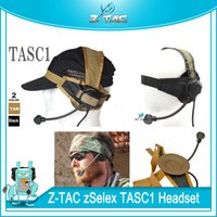 Wholesale airsoft tactical headsets resale online - Z TAC Tactical zSelex TASC1 Headset Airsoft Hunting Earphone Speaker Headset Microphone Paintball Headphone For Wargame Cosplay
