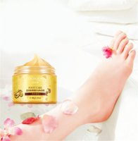 Wholesale baby foot exfoliating peel resale online - Hot Sale BIOAQUA K GOLD Shea Buttermassage Cream Peeling Renewal Mask Baby Foot Skin Smooth Care Cream Exfoliating Foot Mask