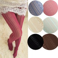 ingrosso stretto a lungo caldo-Hirigin Autumn Knit Girls Ladies Women alta sopra il ginocchio Warm Cotton Velluto lungo 8 colori collant
