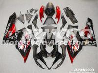 gsxr k5 fairings kırmızı toptan satış-SUZUKI GSXR1000 Için yeni ABS Kaporta bisiklet Fairing kiti 05 06 GSXR-1000 GSX-R1000 K5 GSXR 1000 2005 2006 05 06 Kaplamalar kırmızı