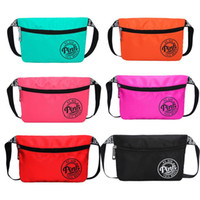 Wholesale Outdoor Waterproof Bags - Pink Fanny Pack Pink Letter Waist Belt Bag Fashion Beach Travel Bags Waterproof Handbags Purses Outdoor Cosmetic Bag