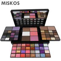 комплекты блеска для макияжа оптовых-MISKOS  Set 74 Colors Combination 36 Colors Eyeshowed Lipstick Glitter Creams Concealers Blushers Contour  Kit
