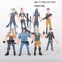 Wholesale fortnite toys for sale - Group buy 8pcs Fortnite Skull Trooper Outlander Commando Ninja PVC Action Figure Anime Cartoon figurine dolls Play Set Toy Cake Topper Gift inches