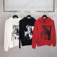 Wholesale red sketches - Fashion Mens Hoodies and Sweatshirts Hooded Sweatshirts Male Clothing Fashion Sketch the deer animal motifs Hoody Men Hoodies