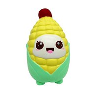 Wholesale toy corn - Jumbo Squishy Cartoon Corn Toys Squeeze Slow Rising Cake Phone Strap Home Decor Kid Toy Gift Relieve Stress