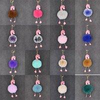 trajes de telefone venda por atacado-Multi Cores Chaves Fivela Para As Mulheres Bolsa Telefone Móvel Charme Pele De Couro Flamingo Forma Chaveiro Venda Quente 2 87cn BB