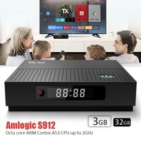 fluxo de vídeo venda por atacado-Android internet caixa de tv dupla banda AC-5G WiFi Bluetooth 4 K streaming de vídeo media player Amlogic S912 Android 7.1 3 GB 32 GB TX92 caixa de tv inteligente