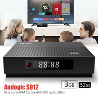 internet tv google spieler wifi großhandel-Android-Internet-TV-Box Dual-Band AC-5G WiFi Bluetooth 4K Video-Streaming-Media-Player Amlogic S912 Android 7.1 3 GB 32 GB TX92 Box Smart-TV
